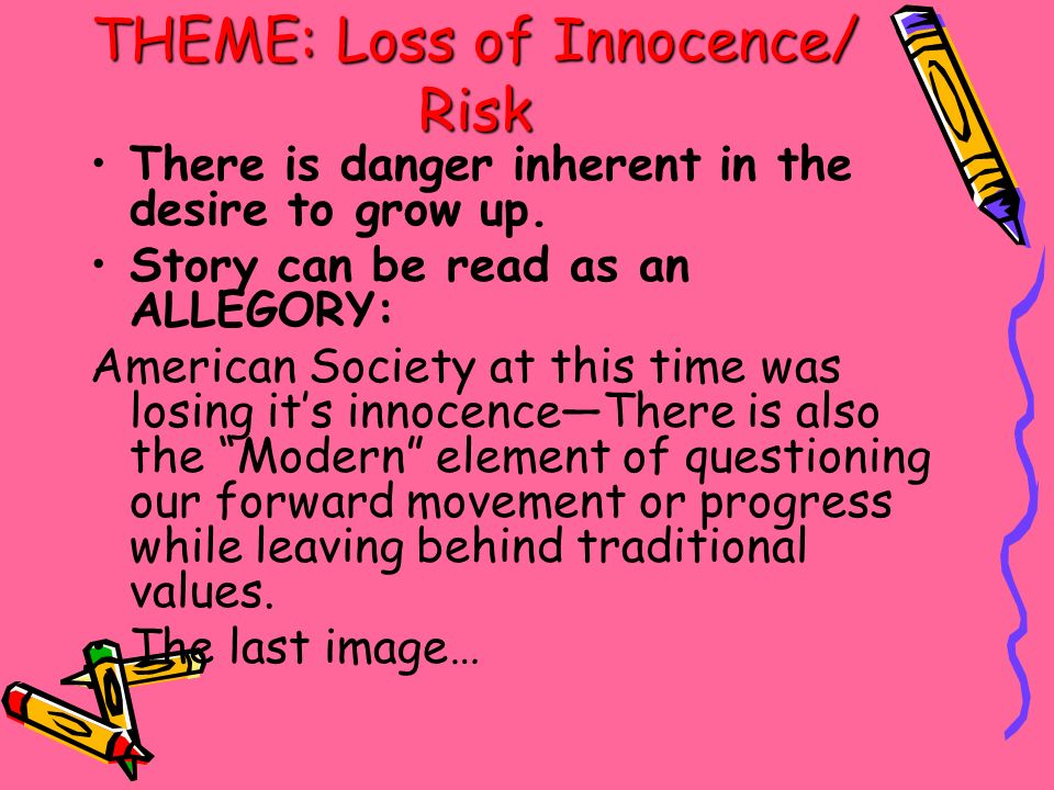 loss of innocence in a separate Learn about the different symbols such as the tree in a separate  the boys'  innocence is lost as they are forced to face the reality of war and.