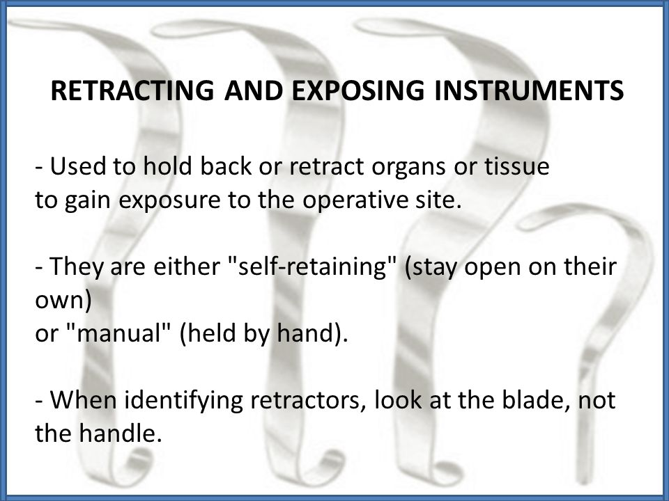 RETRACTING AND EXPOSING INSTRUMENTS