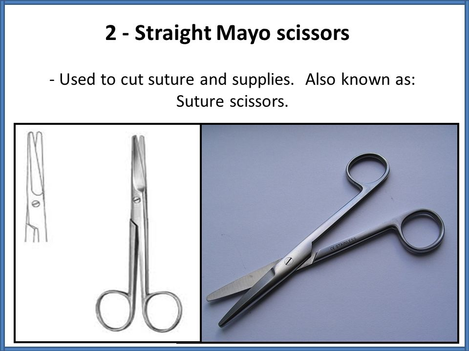 2 - Straight Mayo scissors