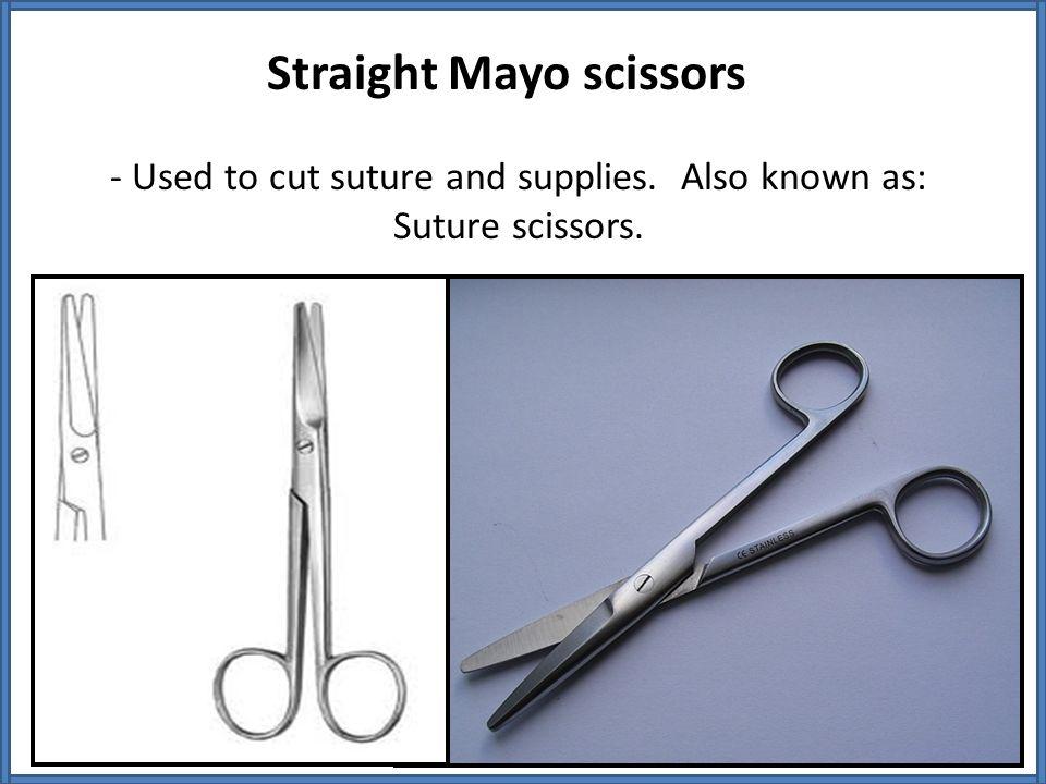 Straight Mayo scissors