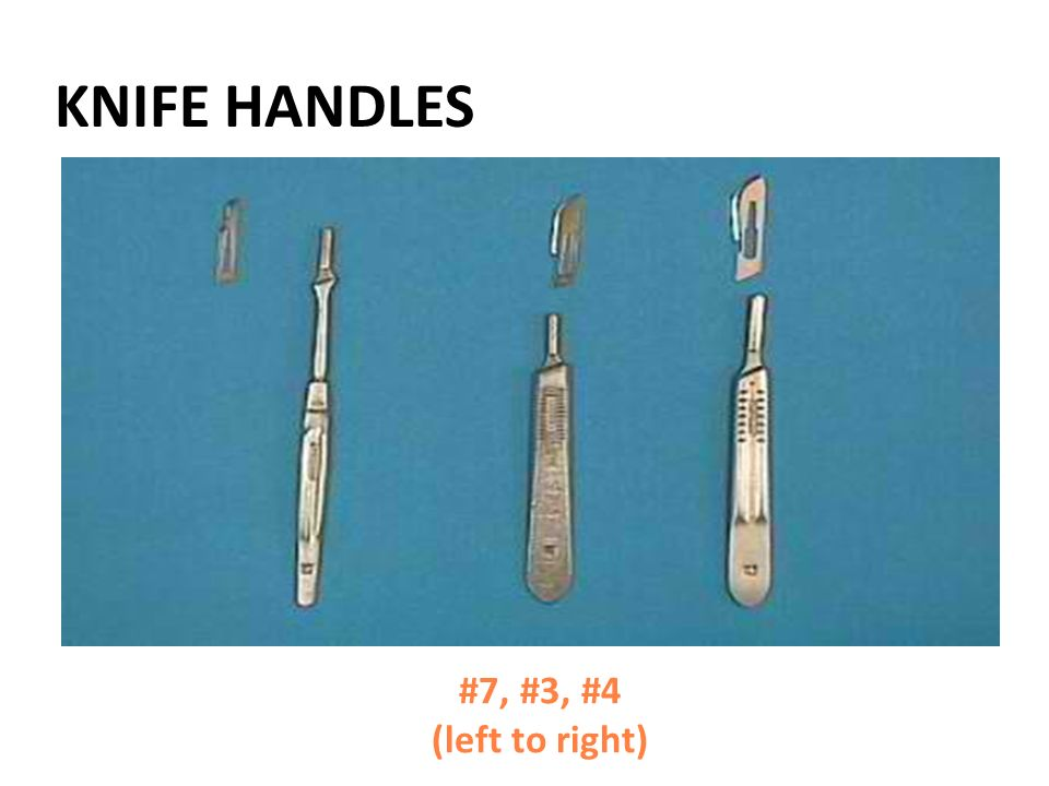KNIFE HANDLES #7, #3, #4 (left to right)