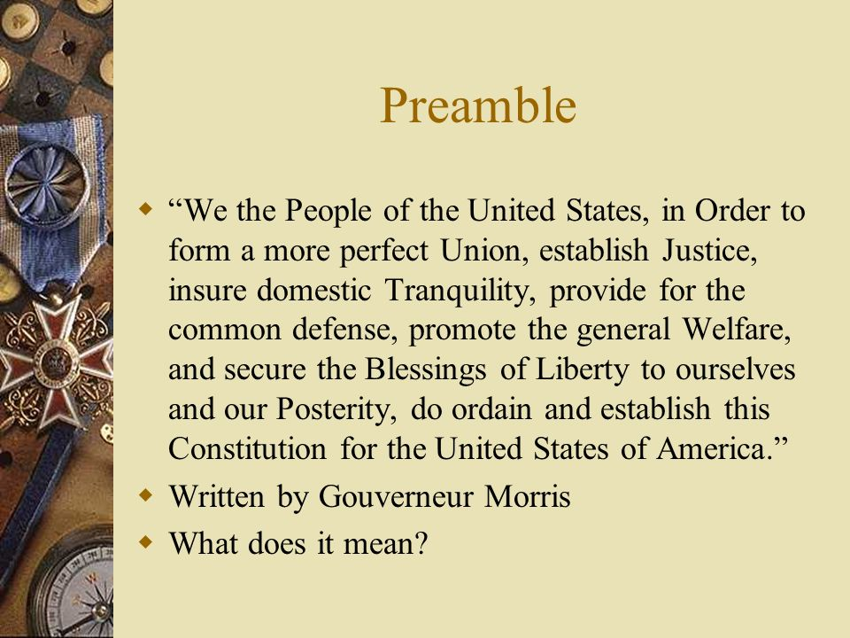 Structure of the Constitution - ppt download