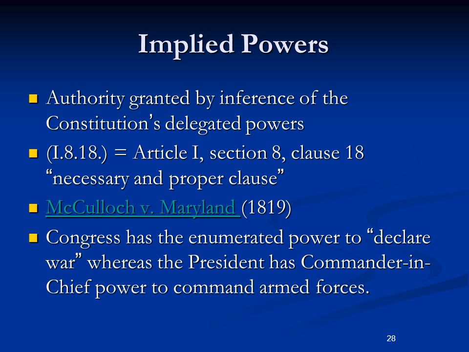 Article 1 Section 8 Of The Constitution Lists Of Congress