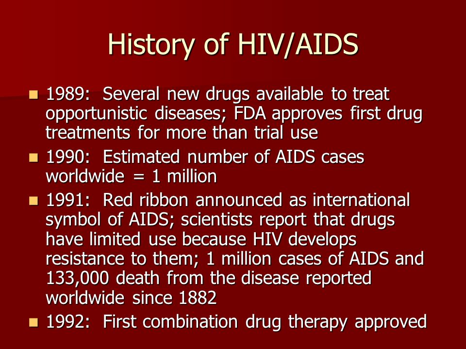 history of drugs used to treat