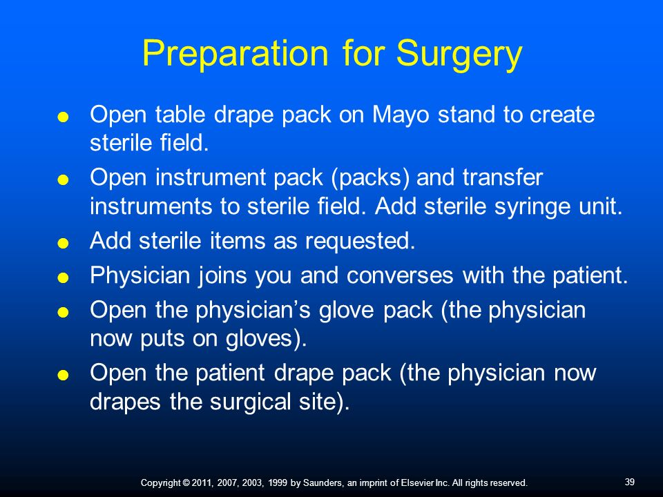 who guidelines for surgery preperation