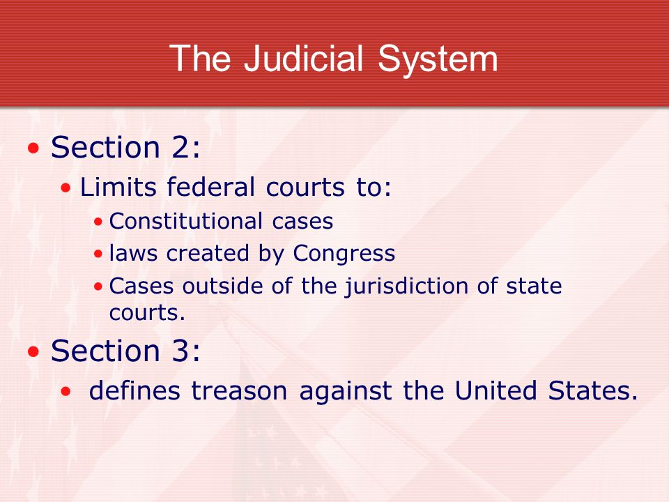 an analysis of the jurisdiction of the federal courts in the constitution of the united states United states constitution, article 1, § 9, cl 4 any tax on (or measured by) common economic activity (or the proceeds therefrom) is a capitation as that term is meant in the united.