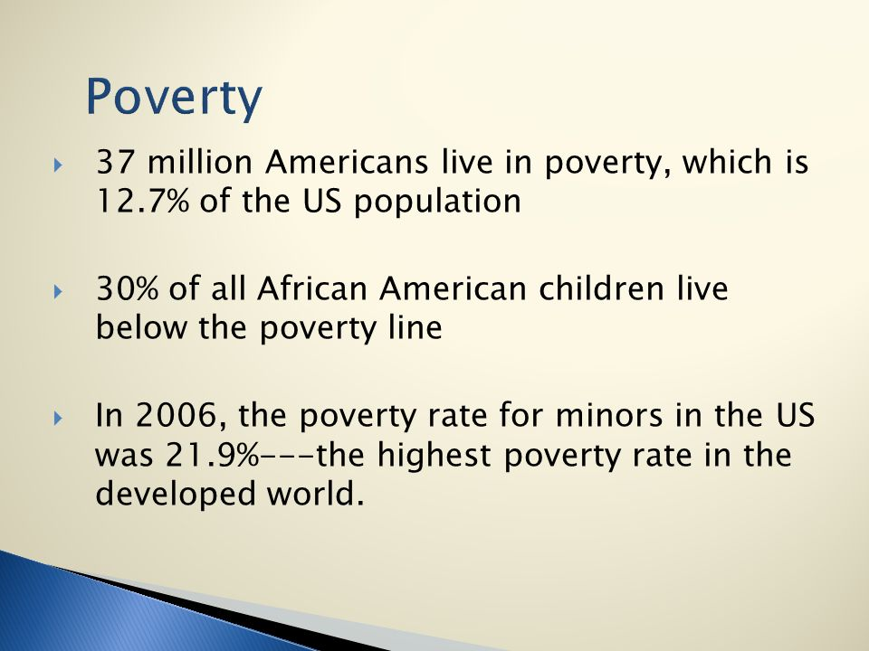 the issue of poverty of the african americans in the united states How much do you know about racial minorities in america  interesting facts about racial minorities in  in the united states, today irish americans are widely.