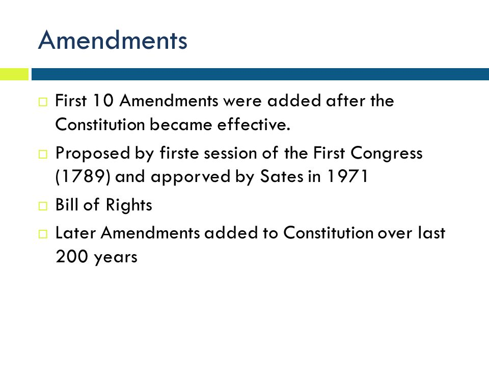 constitution effective Amendments to the constitution of the united states of america articles in addition to, and amendment of, the constitution of the united states of america, proposed.