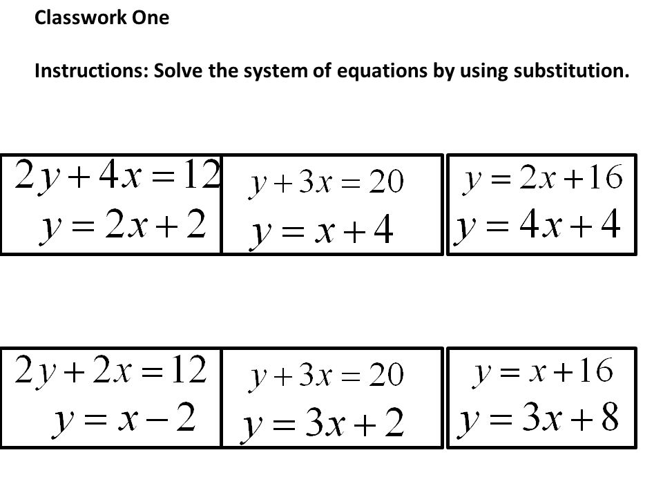 how to solve a system of equations using substitution