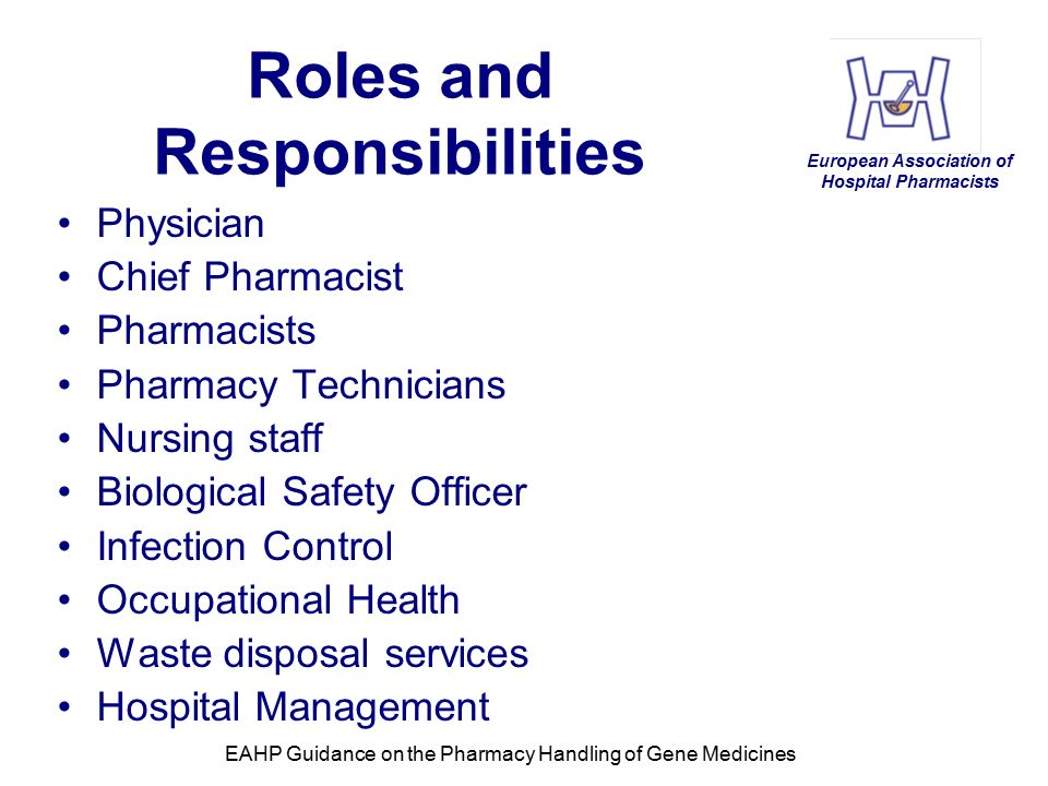 the role and responsibility of a pharmacist