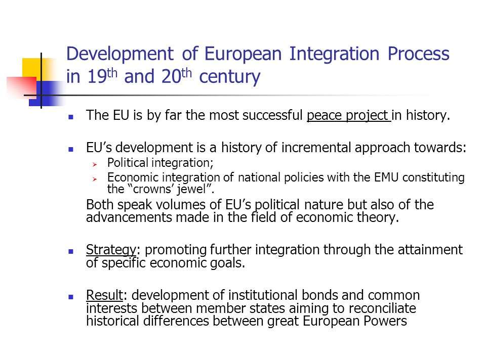 european economic integration charting the history Charting the rise (and fall) of direct democracy in the european union: how comparative federalism can help us understand the interplay of direct democracy and european integration.