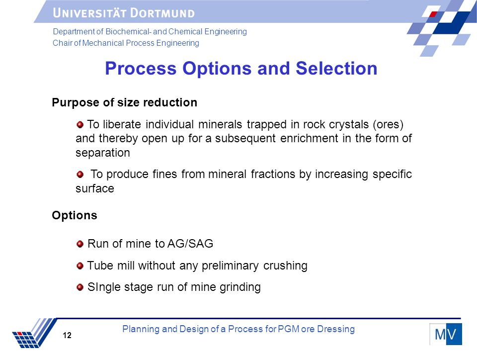 Planning And Design Of A Process For Pgm Ore Dressing Ppt Download