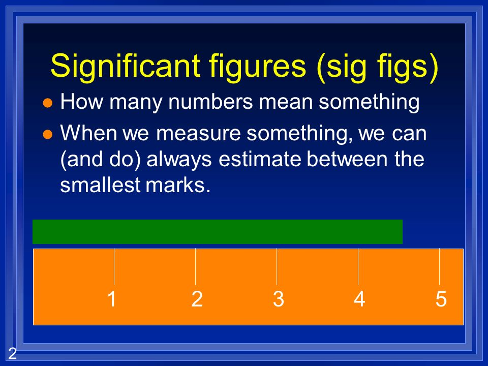 Significant figures (sig figs)