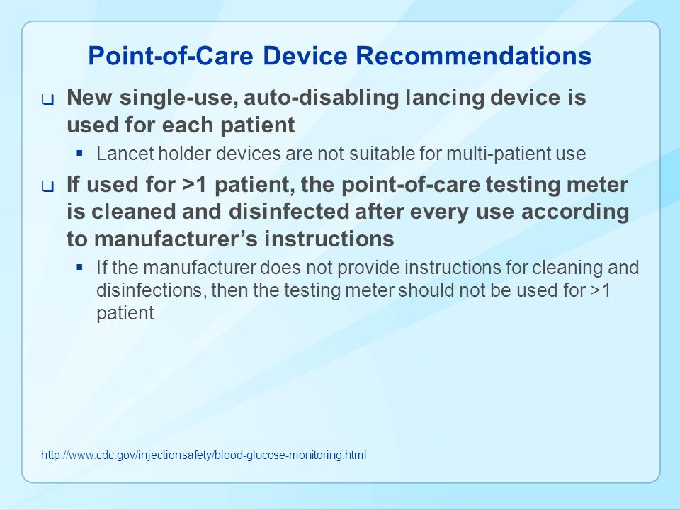 point of care testing guidelines