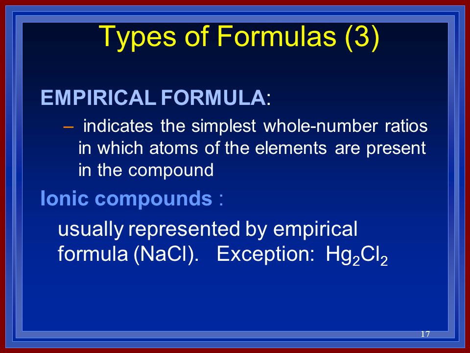 how to find the formula for ionic compounds