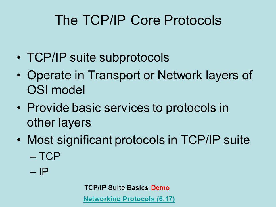 The TCP/IP Core Protocols