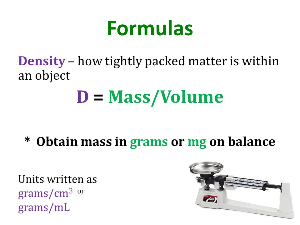 * Obtain mass in grams or mg on balance