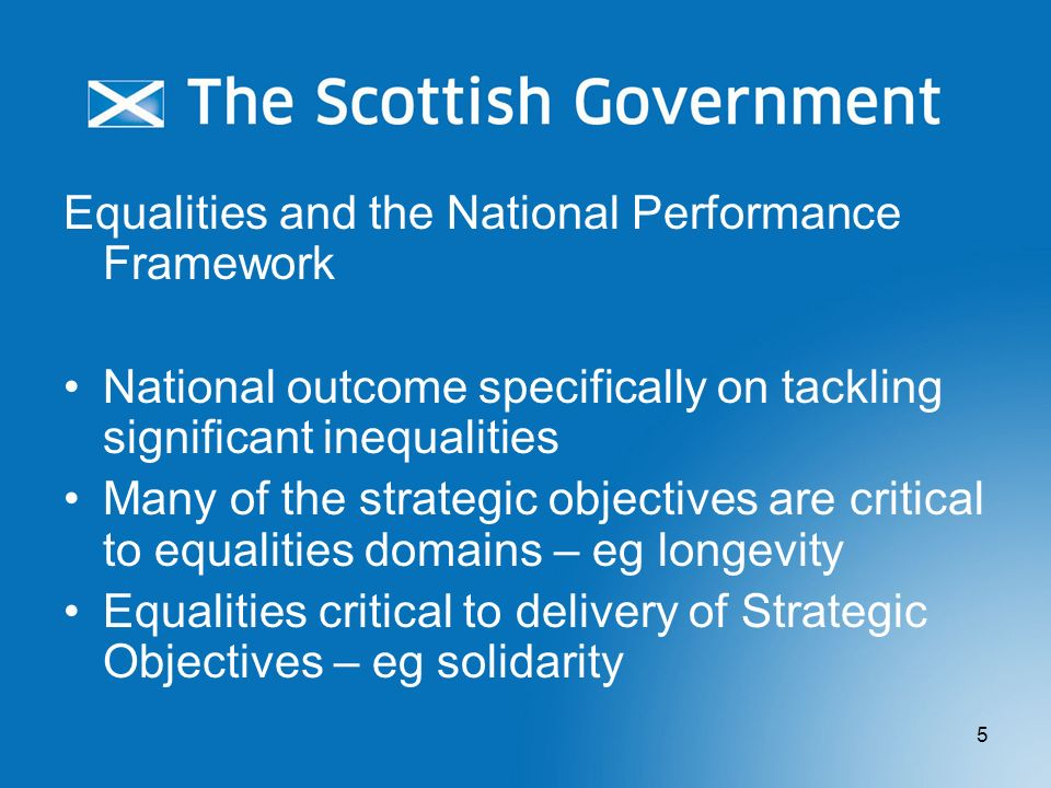Equalities and the National Performance Framework