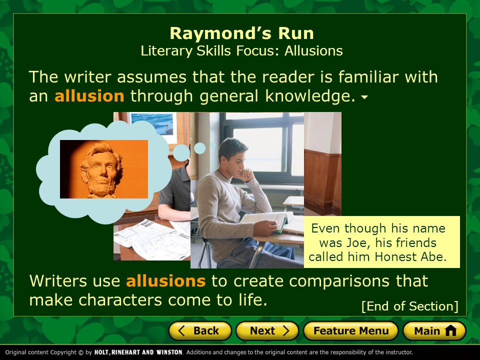 the use of figurative language in the short story raymonds run by toni cade bambara Articles and other content including toni cade bambara's use of african  the essay compares the short stories raymond's run and  of speech, language.