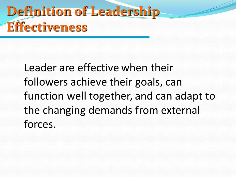 leader by definition