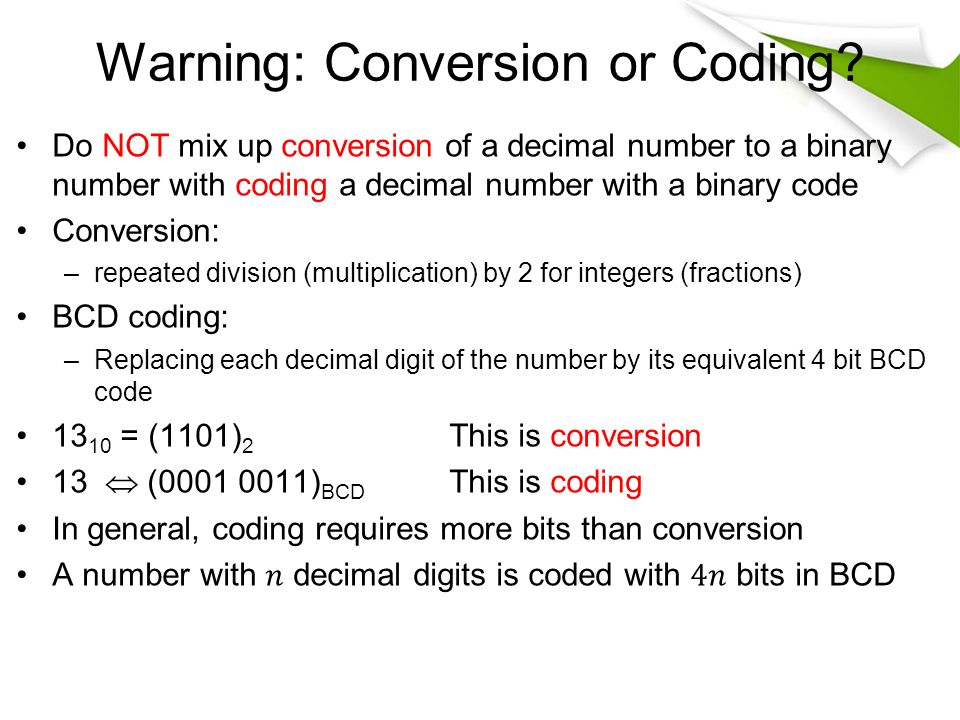 the bcd binary code division equivalent of 13 10 is Electronics tutorial about the binary coded decimal or the bcd binary numbering system 13), 1110 (decimal 14 write down the equivalent 4-bit 8421 bcd code.