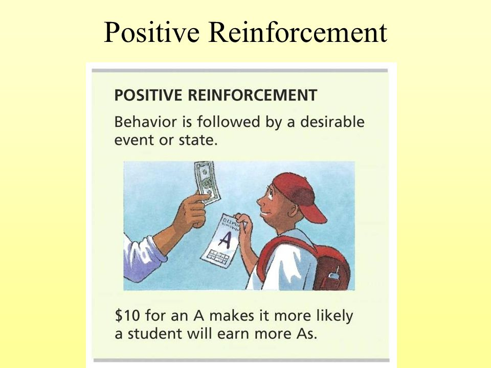 psychology and positive reinforcement This is the 2007 version click here for the 2017 chapter 05 table of contents  positive reinforcement reinforcement is defined by its effect on behavior.