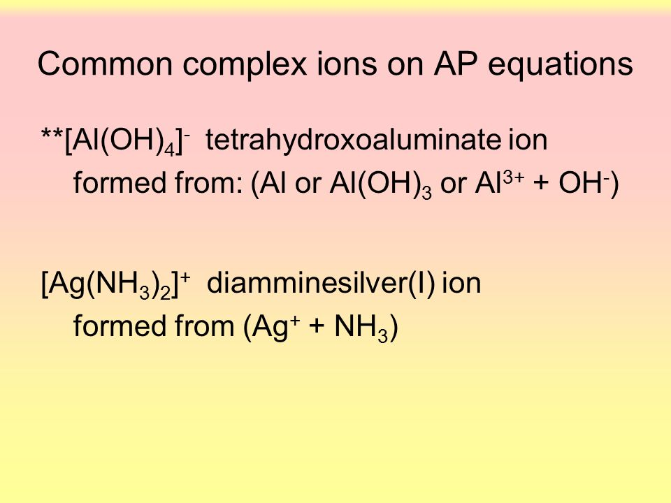 AP Net Ionic Equations. - ppt video online download