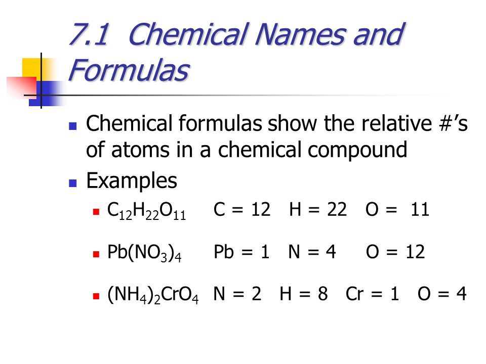 Chemical Formulas and Chemical Compounds - ppt video ...