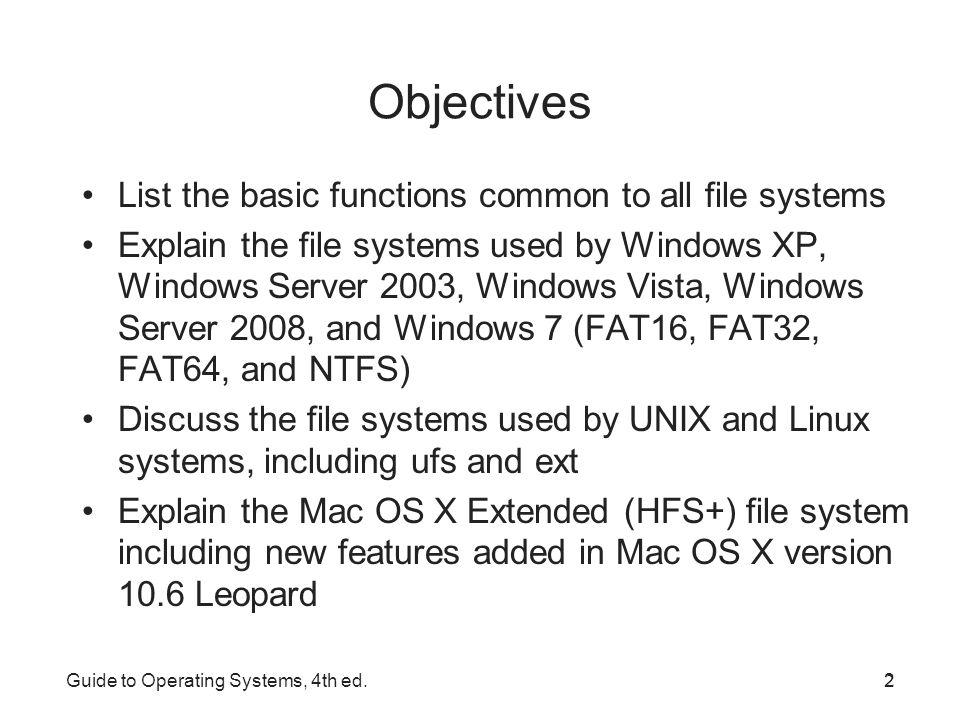server operating system list pdf