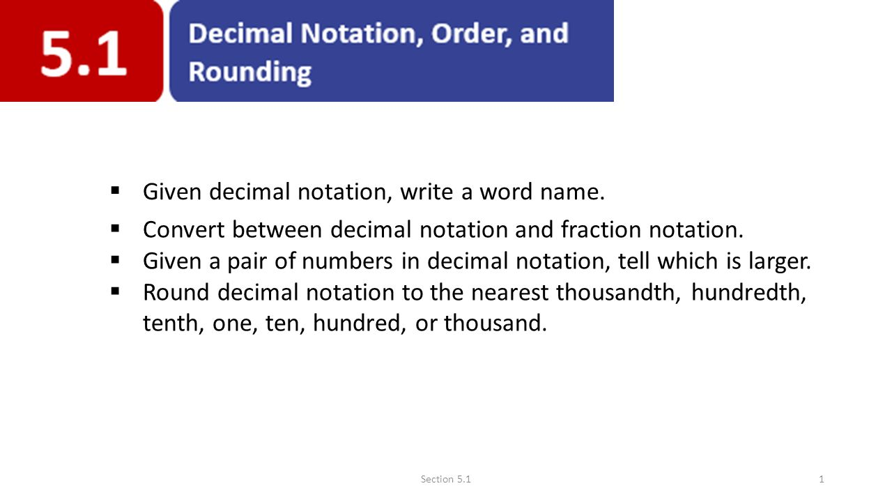Given decimal notation write a word name ppt video online download given decimal notation write a word name publicscrutiny Image collections