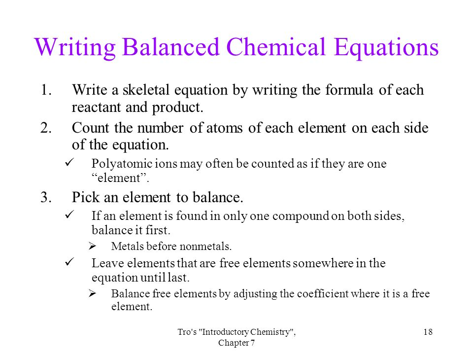 writing chemical equations ppt Writing ionic formulas: introduction tyler dewitt loading balancing chemical equations practice problems - duration: 14:56 writing ionic formulas: practice problems - duration: 3:42 tyler dewitt 104,016 views 3:42 how to write chemical formulas from compound names.