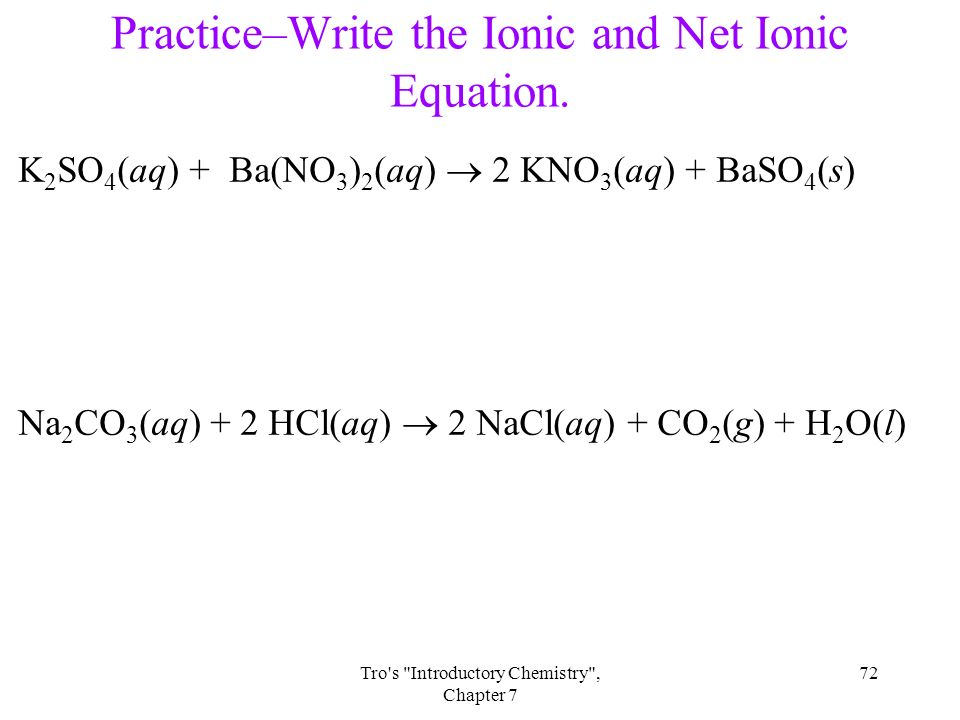 how to create a net ionic equation