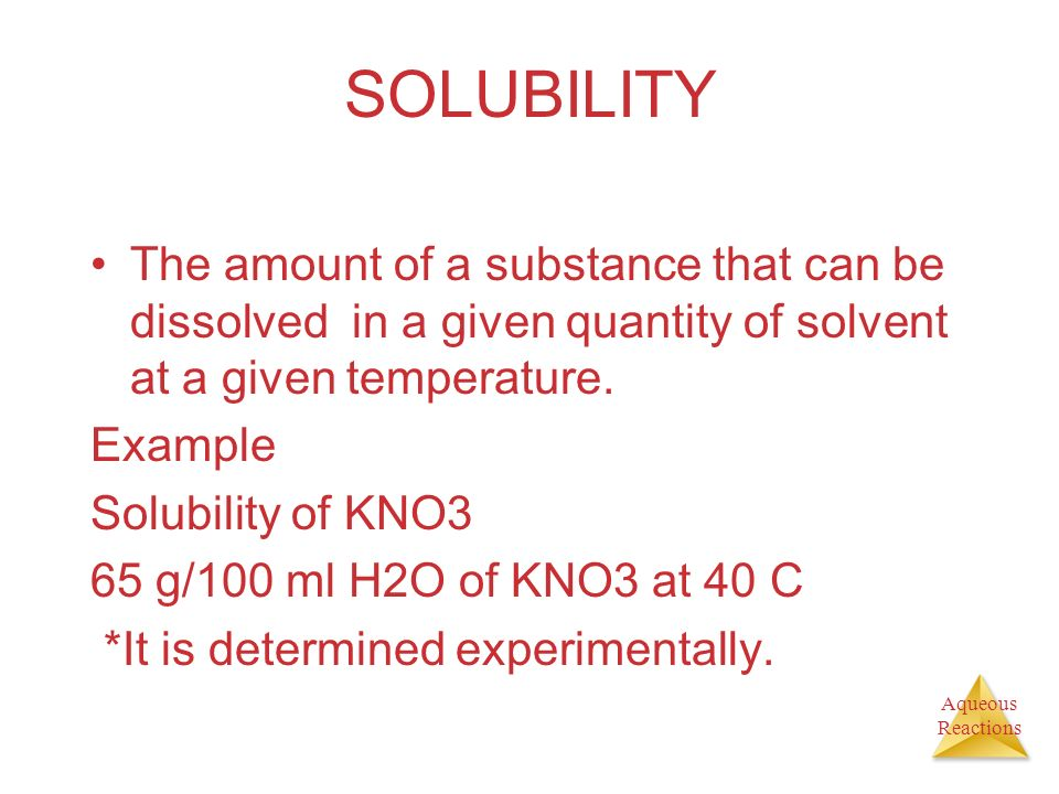 solubility guidelines for non-common ions