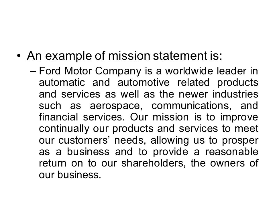 Ge2022 total quality management ppt video online download for Ford motor company mission statement