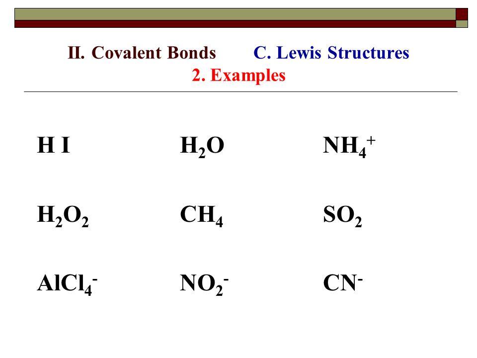 Covalent Bond Lewis Structure