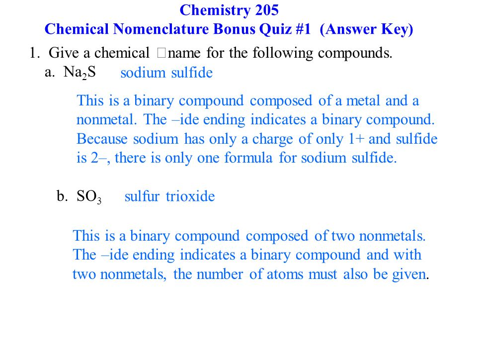 Chemical Nomenclature ppt download – Chemical Nomenclature Worksheet Answers