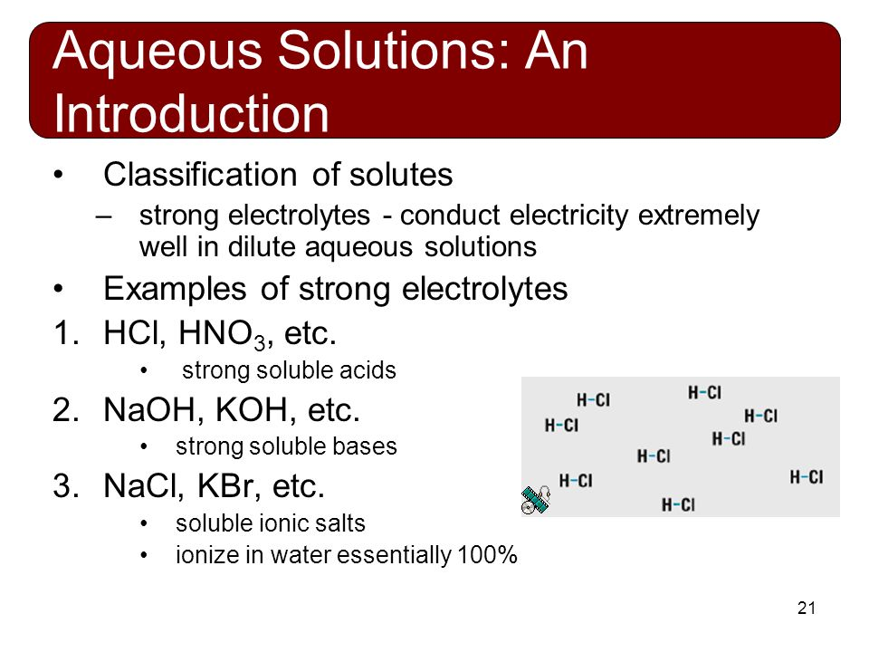 how to find an aqueous solution