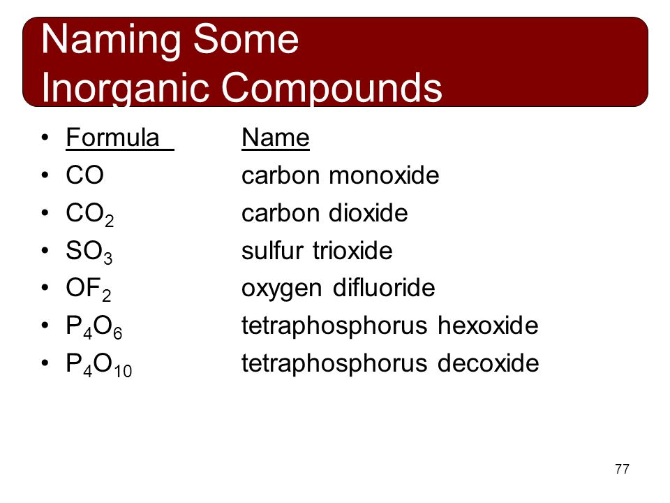 a description of carbon monoxide chemical compound of carbon and oxygen with the formula co To write the names or formulas for chemical compounds the first step is to determine what type of  description: examples:  carbon dioxide, co 2 carbon monoxide, co:.