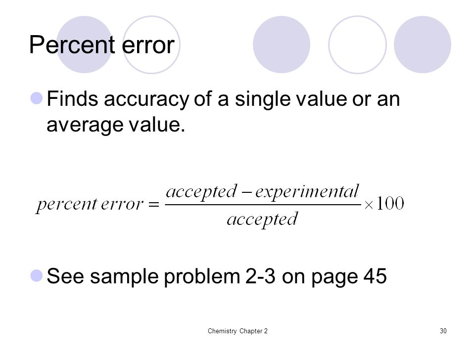 how to find the average of percentage error