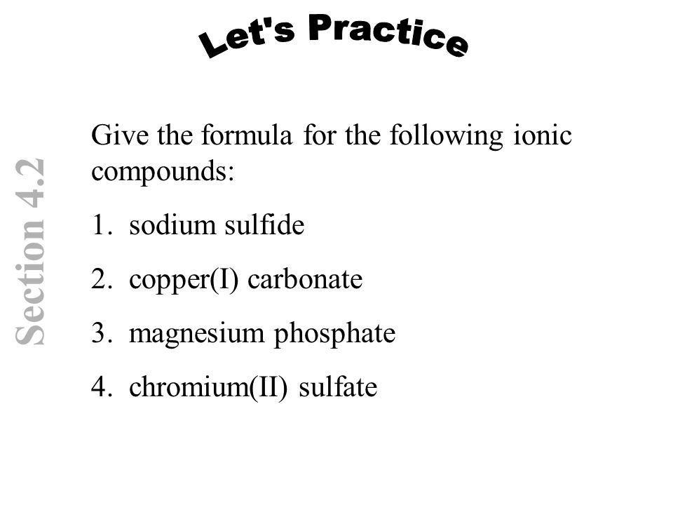How to write the formula for magnesium phosphate