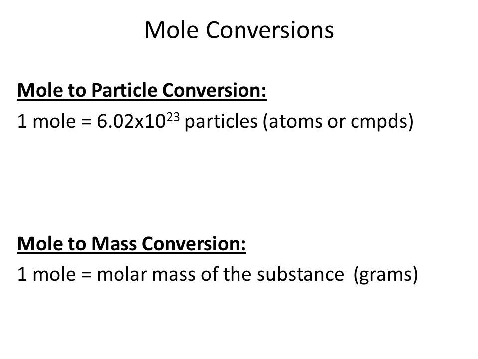 Moles are a Chemist Best Friend Chapter ppt download – Mass-mole Conversion Worksheet