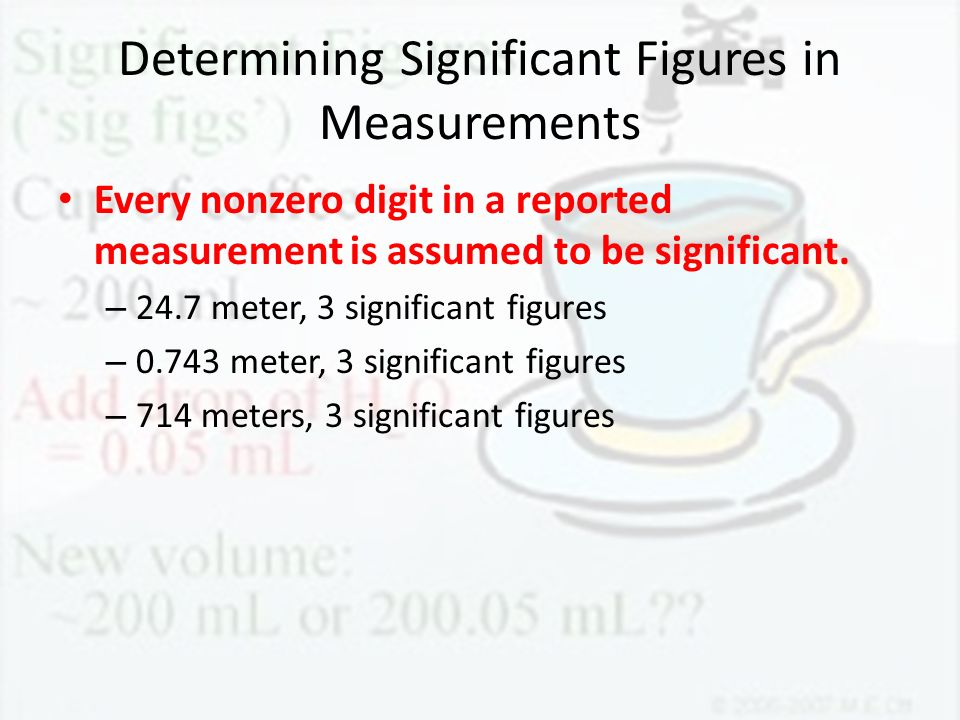 Determining Significant Figures in Measurements