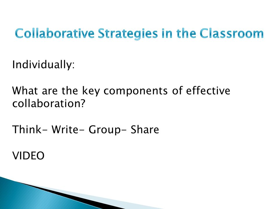 Collaborative Strategies In The Classroom ~ Springboard training math ppt video online download