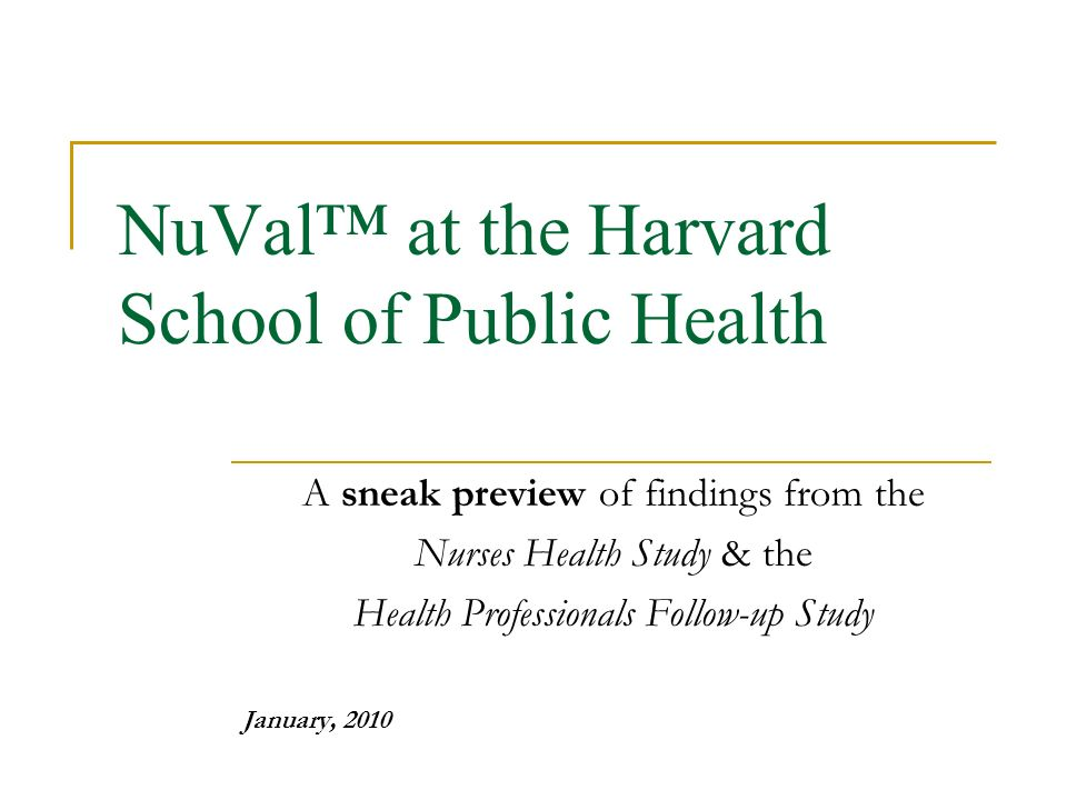 Nurses' Health Study – Page 2 – Harvard Gazette