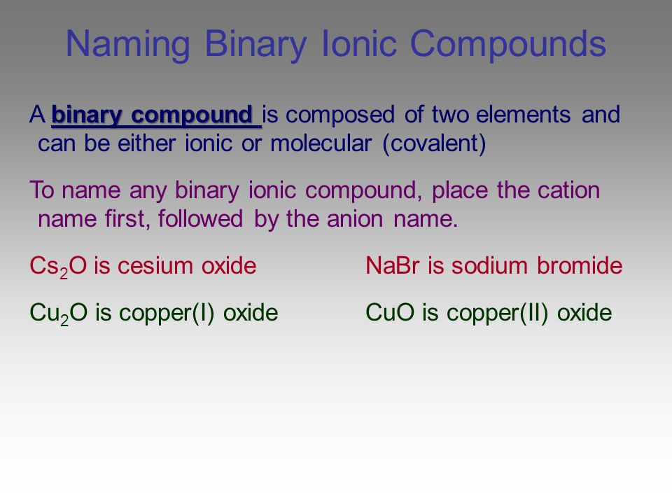 Steps to Naming Ionic and Covalent Compounds