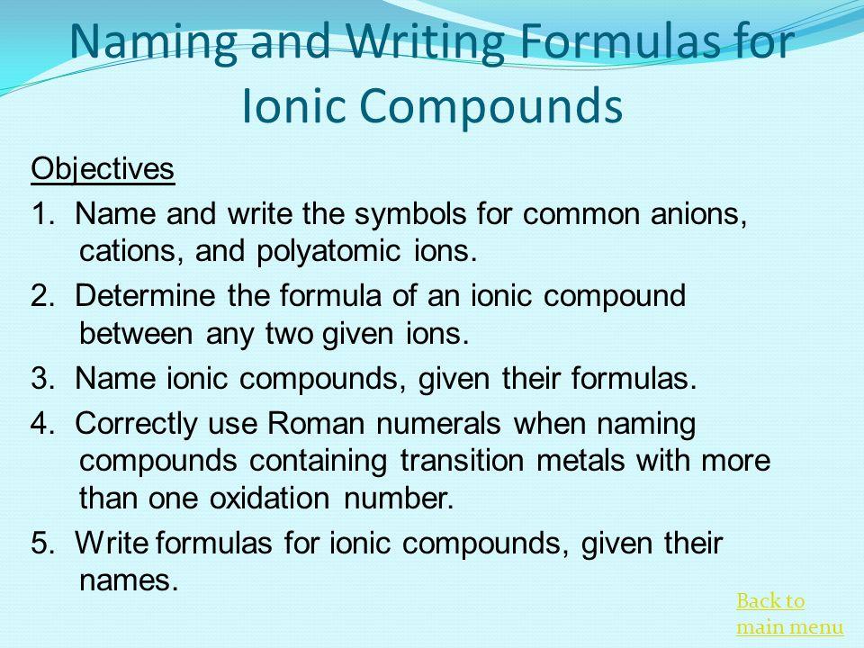 Coordination compound nomenclature worksheet