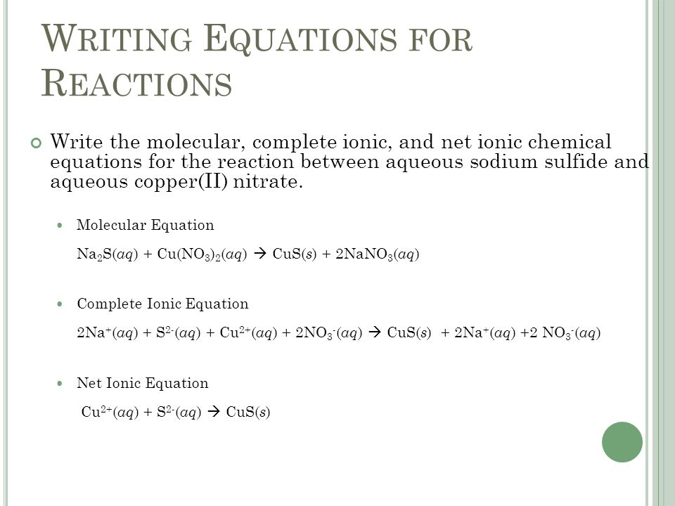 Write a molecular equation for the precipitation reaction silver nitrate and strontium iodide