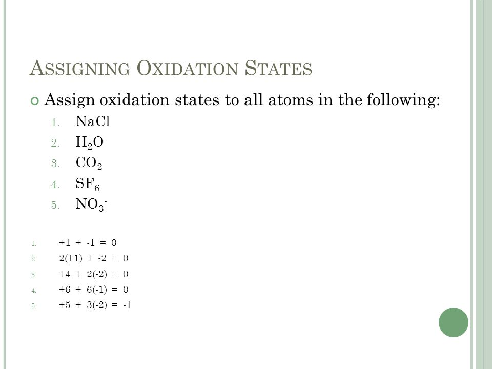 assigning oxidation states Quizlet provides chemistry oxidation states rules assigning activities, flashcards and games start learning today for free.