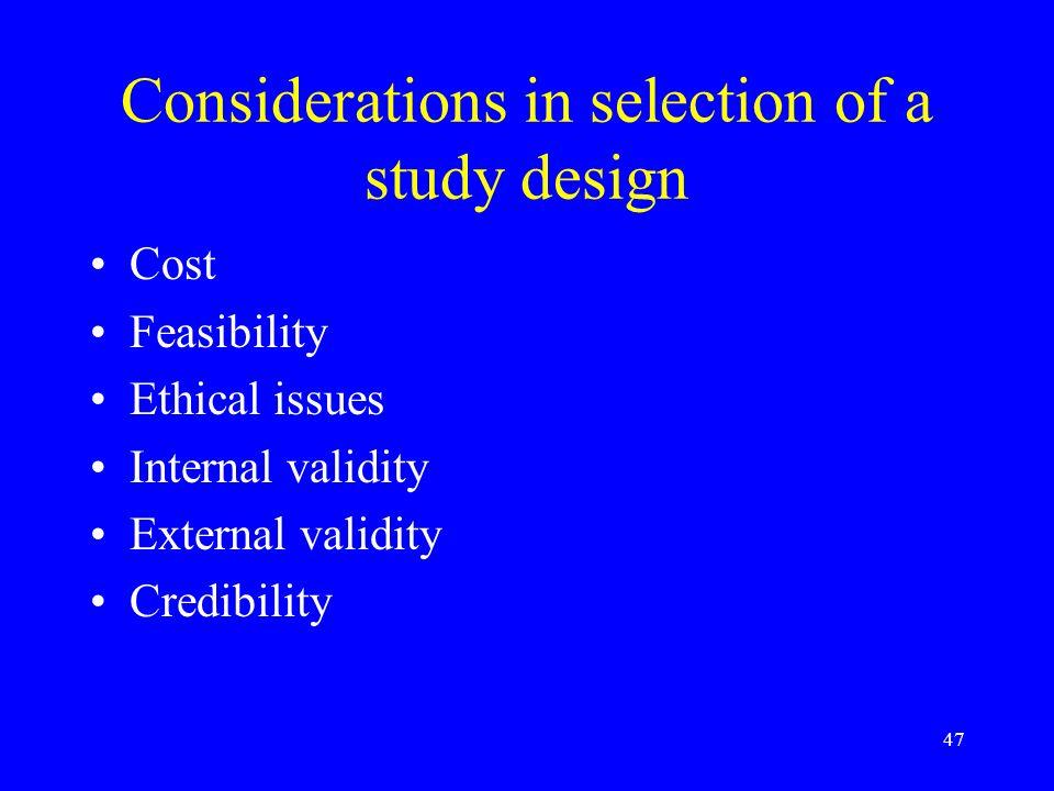 external validity in case control studies