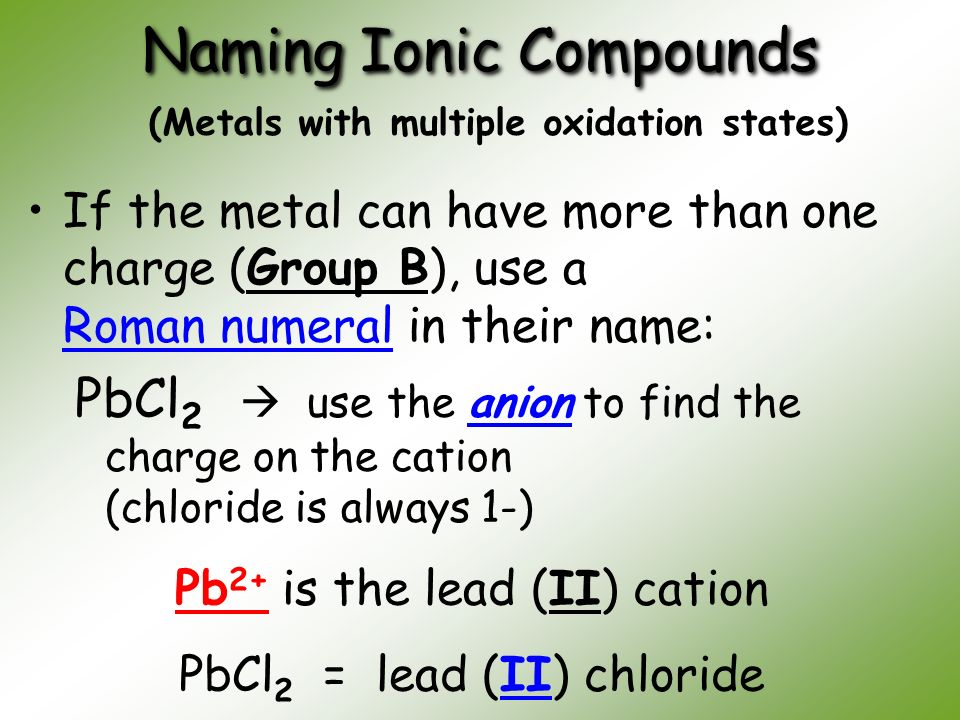 how to find ionic compounds